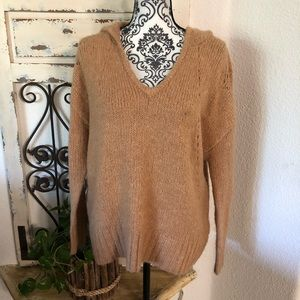 American Eagle outfitters tan wool blend sweater
